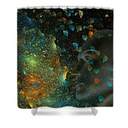 Universal Mind Shower Curtain by Betsy C  Knapp