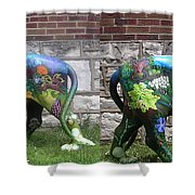 University City In Bloom Lion Shower Curtain by Genevieve Esson