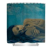 Until Forever Shower Curtain by Dorina  Costras