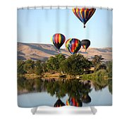 Up Up And Away Shower Curtain by Carol Groenen