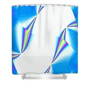 Upbeat Abstract Oval Shower Curtain by Will Borden