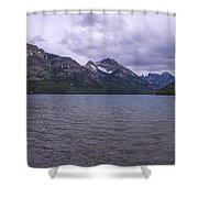 Upper Waterton Lake Shower Curtain by Chad Dutson