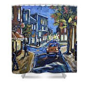 Urban Avenue By Prankearts Shower Curtain by Richard T Pranke