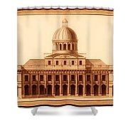 U.s. Capitol Design 1791 Shower Curtain by Mountain Dreams