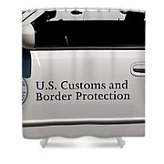 U.s. Customs And Border Protection Shower Curtain by Tikvah's Hope