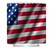 USA Stars and Stripes Flying American Flag Shower Curtain by David Gn
