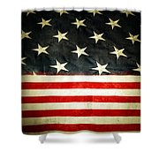 USA stars and stripes Shower Curtain by Les Cunliffe