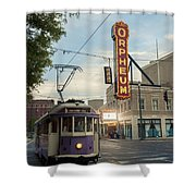 Usa, Tennessee, Vintage Streetcar Shower Curtain by Dosfotos