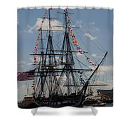 Uss Constitution Shower Curtain by Mike Ste Marie