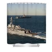 Uss James E. Williams Is Underway Shower Curtain by Stocktrek Images