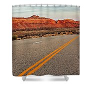 Utah Highway Shower Curtain by Benjamin Yeager