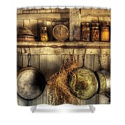 Utensils - Old Country Kitchen Shower Curtain by Mike Savad