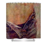 V Jeans Shower Curtain by Loriental Photography