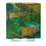 Val D'orcia Shower Curtain by Pamela Allegretto