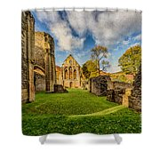 Valle Crucis Abbey Ruins Shower Curtain by Adrian Evans