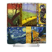Van Gogh Collage Shower Curtain by Philip Ralley