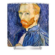 Van Gogh On Van Gogh Shower Curtain by Cora Wandel