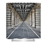 Vanishing Point Shower Curtain by Delphimages Photo Creations