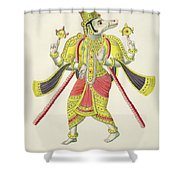 Varaha, Engraved By De Marlet Shower Curtain by French School