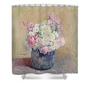 Vase Of Flowers Shower Curtain by Henri Lebasque