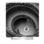 Vatican Stairs Shower Curtain by Adam Romanowicz