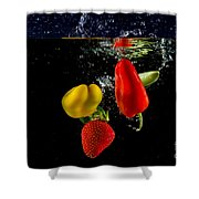 Vegetable Soup For The Soul Shower Curtain by Rene Triay Photography