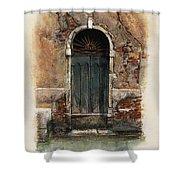 Venetian Door 01 Elena Yakubovich Shower Curtain by Elena Yakubovich