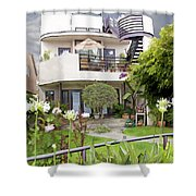 Venice Canal Home Shower Curtain by Chuck Staley