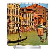 Venice Street Lamp Shower Curtain by Mick Burkey