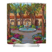 Ventura Mission Shower Curtain by Diane McClary