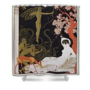 Venus Shower Curtain by Georges Barbier