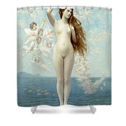 Venus Rising The Star Shower Curtain by Jean Leon Gerome