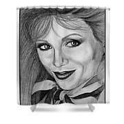 Victoria Principal In 1983 Shower Curtain by J McCombie