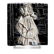 Victorian Lady Shower Curtain by John Haldane