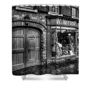 Victorian Menswear Shower Curtain by Adrian Evans