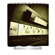 Video Recorder Shower Curtain by Les Cunliffe