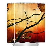View Of Autumn Shower Curtain by Lourry Legarde