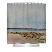 View Of Harkness Park From Seaside Waterford Ct Shower Curtain by Patty Kay Hall