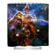 View Of Pillar And Jets Hh 901902 Shower Curtain by Amanda Struz