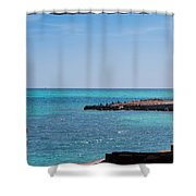 View Through The Walls Of Fort Jefferson Shower Curtain by John M Bailey