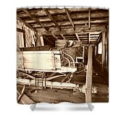 Vintage Barn Finds Shower Curtain by Cheryl Young