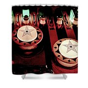 Vintage Bumpers Shower Curtain by Benjamin Yeager