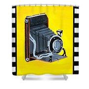 Vintage Camera Shower Curtain by Karyn Robinson