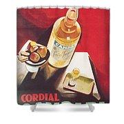 Vintage Campari Shower Curtain by Georgia Fowler