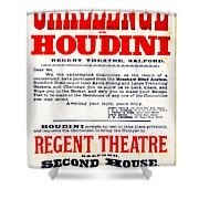 Vintage Challenge Houdini Poster Shower Curtain by Wingsdomain Art and Photography