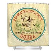 Vintage Cheese Label 1 Shower Curtain by Debbie DeWitt