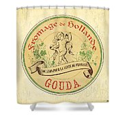 Vintage Cheese Label 2 Shower Curtain by Debbie DeWitt