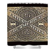 Vintage Currency Shower Curtain by Chris Berry