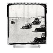 Vintage Daytona Beach Florida Shower Curtain by Edward Fielding