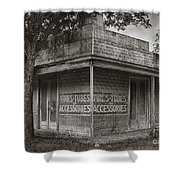 Vintage D'hanis Texas Business Shower Curtain by Priscilla Burgers